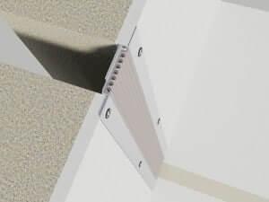320-100-3D  Profile dilatatie pentru perete si tavane 320 100 3D