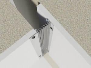 322-080-3D-Eck  Profile dilatatie pentru perete si tavane 322 080 3D Eck
