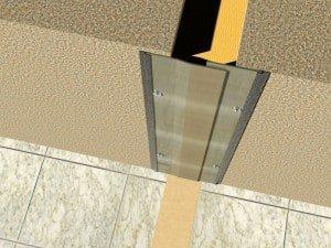 Profil dilatatie tavan  Profile dilatatie pentru  rosturi la pardoseala 24 W 3D