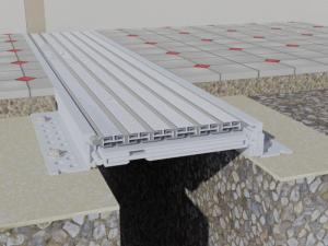 Profil seismic  Profile dilatatie pentru  rosturi la pardoseala 860 3D