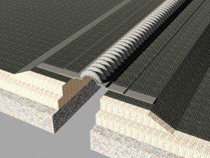 Profil dilatatie impermeabil  Profile dilatatie pentru rosturi acoperis si terase impermeabile WOD550