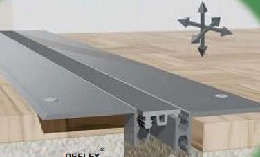 Profil dilatatie pentru un rost de pardoseala cu latimea de 50 mm- profil aplicat  Promotii Deflex 446N1