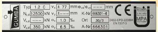 placuta identificare aparate reazem Informaţii generale despre suporţii de pod Aparate reazem