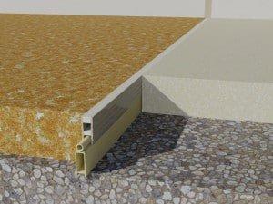 profil de dilatatie din PVC  Rosturi beton profil de dilatatie din PVC