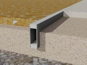 profil dilatatie PVC  Rosturi beton profil dilatatie PVC