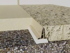 profil dilatatie din PVC  Rosturi beton profil dilatatie din PVC